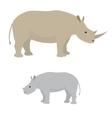 Big and little rhino vector image