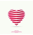 icons in form hearts vector image