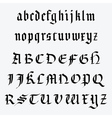 Medieval alphabet vector image