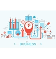 Modern Flat thin Line design Finance and business vector image