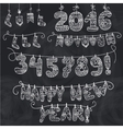 New year garlandKnitted numberssocksletters vector image