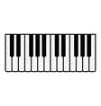 Part of the piano keyboard vector image
