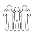 pictogram people design vector image