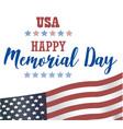 usa memorial day happy memorial day card vector image
