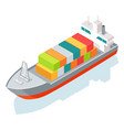 cargo ship or container isolated on white vector image