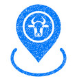 cow location icon grunge watermark vector image