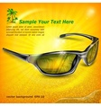 Sunglasses with reflection on vector image vector image