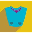 Flat icon with long shadow female necklace vector image
