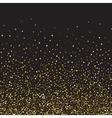 Golden glitter shine texture on a black background vector image