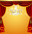 background with curtains and a chandelier with spa vector image