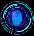 abstract technology background security system vector image