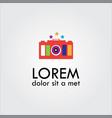 beauty camera with stars logo vector image