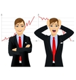 concept face emotion with businessmen vector image