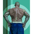 large male athlete view from the back vector image