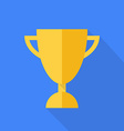 Prize cup Flat design vector image