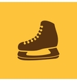 The skates icon Hockey Skates symbol Flat vector image