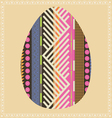 ornamental easter egg vector image