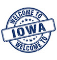 welcome to iowa vector image