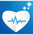 Paper Heart and Pulse vector image