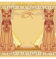 Stylized Egyptian cat abstract grunge card vector image