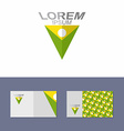 Logo design element with business card template vector image