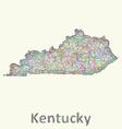 Kentucky line art map vector image