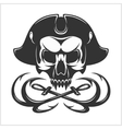 Evil skull  Dark t-shirt design Pirate vector image