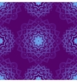 Blue Indian Vintage Ornament Blue mandala vector image