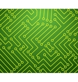 Green and Yellow Printed Circuit Board vector image
