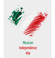 Mexican independence day background with grunge vector image
