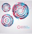 modern futuristic circles set vector image