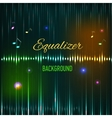 Musical background with key notes and equalizer vector image