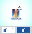 Real estate logo icon set vector image