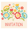 retro style flower bouquet in pastel color floral vector image