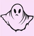 Scary ghost halloween vector image