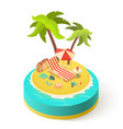 summer vacation island vector image