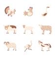 Farm animals icon set vector image