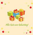 alles gute zum geburtstag - greeting card vector image