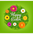 Happy Easter Ball With Flowers vector image
