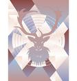 Polygonal Background with Deer3 vector image vector image