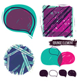 Abstract background and bubble speech vector image