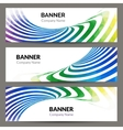 Abstract business banners set with waves stripes vector image