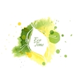 Abstract with Watercolor Stains vector image