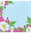 Background with mix of flowers vector image