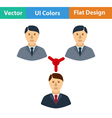 Flat design icon of Businessmen connection vector image