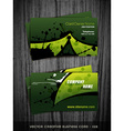 green color business card vector image