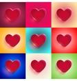 set Big Red Heart vector image