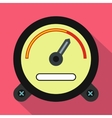 Speedometer icon in flat style vector image