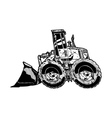 heavy equipment loader vector image