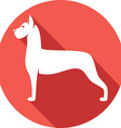 Great Dane Dog Icon vector image vector image